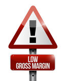 Low gross margin warning sign Stock Image
