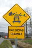 Low Ground Clearance Signage Royalty Free Stock Photography