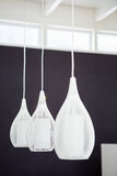 Low hanging light bulbs Royalty Free Stock Photography