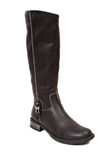 Low heel leather boots for women Royalty Free Stock Image