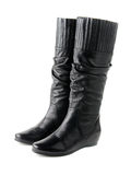 Low heel women boots Royalty Free Stock Photos