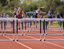 Low Hurdles Race Royalty Free Stock Images