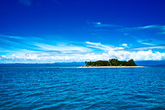 Low island of Great Barrier Reef. From the sea ,saw the low island it's one of the Great Barrier Reef royalty free stock photos