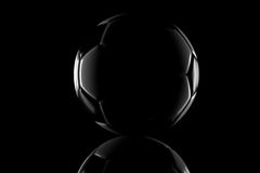 Low key black and white football Royalty Free Stock Photo