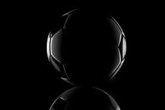 Low key black and white football Royalty Free Stock Photo