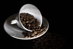 Low key coffee mug Royalty Free Stock Photos