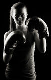 Low key female boxer Royalty Free Stock Images