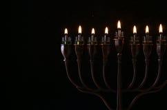 Low key Image of jewish holiday Hanukkah Royalty Free Stock Images