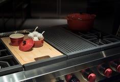Low Key Kitchen Hob Stock Image