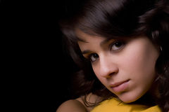Low key portrait Royalty Free Stock Photography