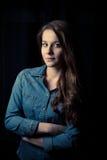 Dark portrait of girl Royalty Free Stock Photo