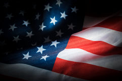 Low key USA flag Royalty Free Stock Photography