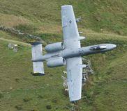 Low Level. Flying aircraft all around Wales in the Mach Loop royalty free stock photo
