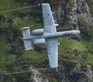 Low Level. Flying aircraft all around Wales in the Mach Loop Stock Photos