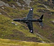 Low Level. Flying aircraft all around Wales in the Mach Loop Stock Photo