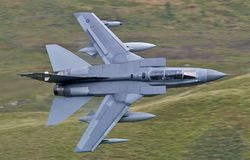 Low Level. Flying aircraft all around Wales in the Mach Loop Stock Image