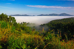 Low level cloud at Nam Prao valley Royalty Free Stock Image