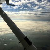 Low Level Cloud. Out of an aircraft stock photography