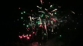 Low level fireworks show movie stock video footage