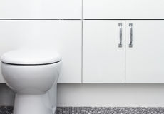 Low level toilet pan with hidden cistern Stock Photography