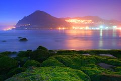 Low light near Keelung fishing port Royalty Free Stock Images