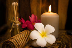 Low light spa setting indoor Royalty Free Stock Images