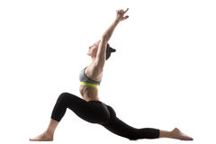 Low Lunge exercise Royalty Free Stock Image