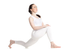 Low lunge pose Royalty Free Stock Images