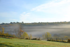 Low lying morning fog Royalty Free Stock Photography