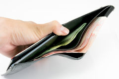 Low money in my wallet.  Royalty Free Stock Image