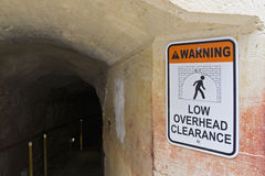 Low overhead clearance tunnel Stock Photos