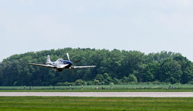 Low Pass. Mustang plane low pass at air show Royalty Free Stock Photos