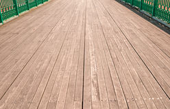 Low perspective image of pier boardwalk Stock Image