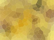 Low poly abstract background in gold colors Royalty Free Stock Images