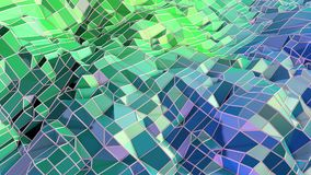 Low poly abstract background with modern gradient colors. Blue green 3d surface 16. Low poly abstract background with modern gradient colors Royalty Free Illustration