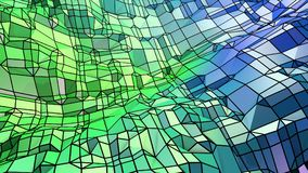 Low poly abstract background with modern gradient colors. Blue green 3d surface 18. Low poly abstract background with modern gradient colors Royalty Free Stock Photography