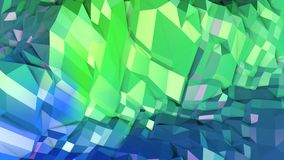Low poly abstract background with modern gradient colors. Blue green 3d surface 14. Low poly abstract background with modern gradient colors Stock Photos
