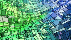 Low poly abstract background with modern gradient colors. Blue green 3d surface 17. Low poly abstract background with modern gradient colors Stock Illustration