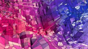 Low poly abstract background with modern gradient colors. Red blue 3d surface. V45. Low poly abstract background with modern gradient colors Stock Photos