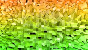 Low poly abstract background with modern gradient colors. Yellow green 3d surface. V1. Low poly abstract background with modern gradient colors Royalty Free Stock Images