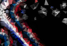 Low poly abstract black and red background consisting of triangles. With space for your text stock illustration