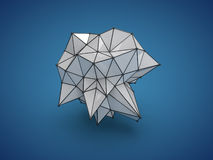 Low poly abstract form. Low poly blue and white abstract form vector illustration