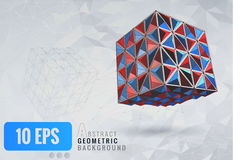 Low poly abstract geometric shape template background Royalty Free Stock Photography