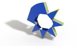 Low poly abstract symbol 3d render Stock Photography