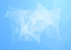 Low poly abstract triangles bright tech background Stock Images