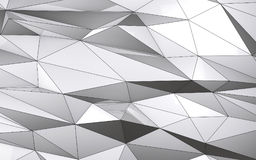 Low poly abstract white metal background. 3d render Royalty Free Stock Images