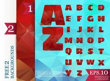 Low poly alphabet on polygon concept  and backgrounds. Low poly alphabet on polygon concept  and backgrounds triangles polygonal style eps.10 Royalty Free Illustration