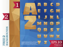 Low poly alphabet on polygon concept  and backgrounds tria. Ngles polygonal style eps.10 Vector Illustration