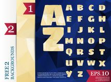 Low poly alphabet on polygon concept vector and backgrounds tria. Ngles polygonal style eps.10 Stock Illustration