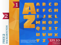 Low poly alphabet on polygon concept vector and backgrounds. Triangles polygonal style eps.10 Vector Illustration